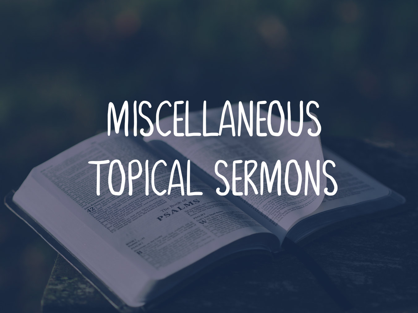 Sermon series 1 Johm